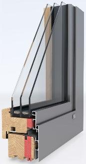 Деревянное окно ModernLine 0,7