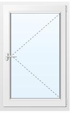 Пластиковое окно поворотное №18 900X900
