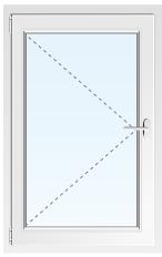 Пластиковое окно поворотное №19 600X600