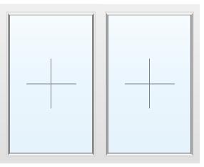 Раздвижное алюминиевое окно поворотное №28 1500X1700