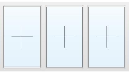 Раздвижное алюминиевое окно №51 2400X1700