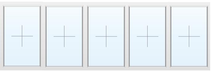 Раздвижное алюминиевое окно №53 4700X1700