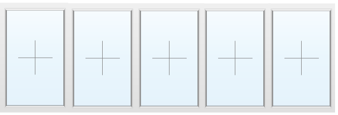 Раздвижное алюминиевое окно №60 4000X1700