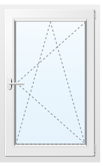 Алюминиевое окно №65 800X1900