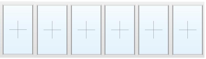 Раздвижное алюминиевое окно №71 5000X1700
