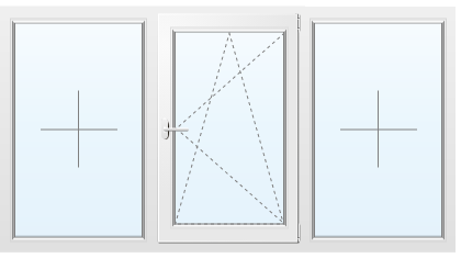 Алюминиевое окно №72 2050X1400
