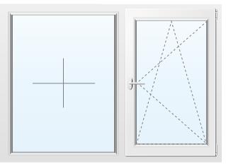 Алюминиевое окно №74 1800X1600