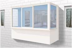 балкон с простым остеклением