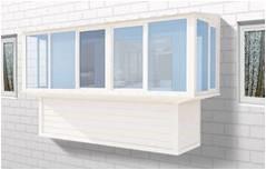 балкон с выносным остеклением